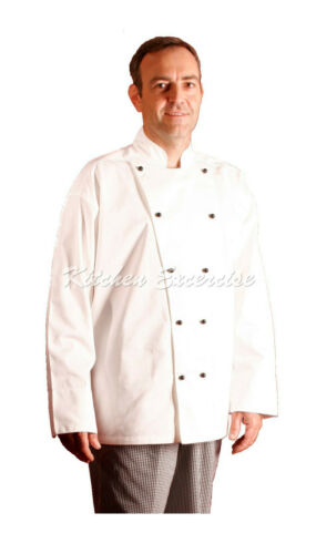 SHORT//LONG SLEEVE GREAT QUALITY /& GREAT VALUE CHEF JACKETS BLACK//WHITE $23.50