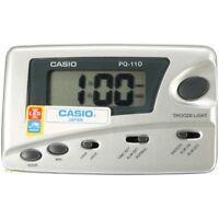 Casio Digital Grey Traveler's Snooze Led Alarm Clock Pq11d-8 on sale