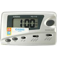 Casio Digital Grey Traveler's Snooze Led Alarm Clock Pq11d-8