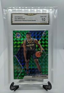 ZION-WILLIAMSON-2019-20-PANINI-MOSAIC-GREEN-PRIZM-209-ROOKIE-GEM-MINT-10