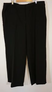 Chicos-Womens-Size-3-Ultimate-Fit-Ankle-Length-DRESS-Pants-Black-NEW
