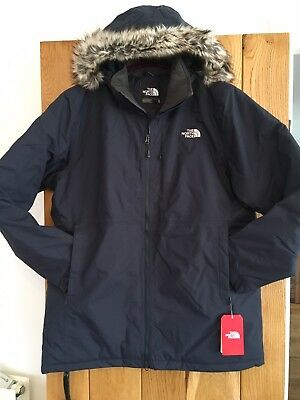 4dae230cf Mens Waterproof North Face Coat Jacket Arashi II Parka Navy Blue Medium M  NEW | eBay