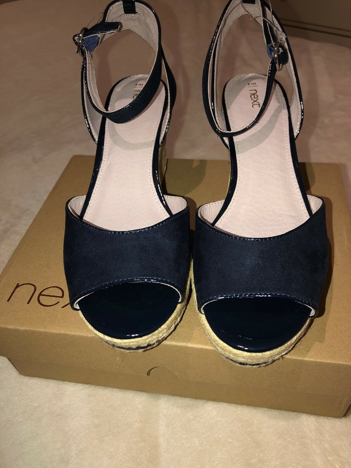 Next Navy Wedges Size 9 Bnwt Retail