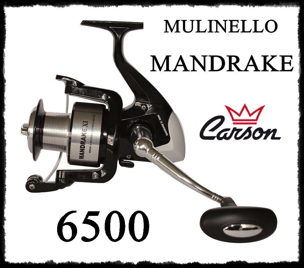 Mulinello uomodrake 6500 pesca fondo surfcasting bolentino verdeical siluro brek