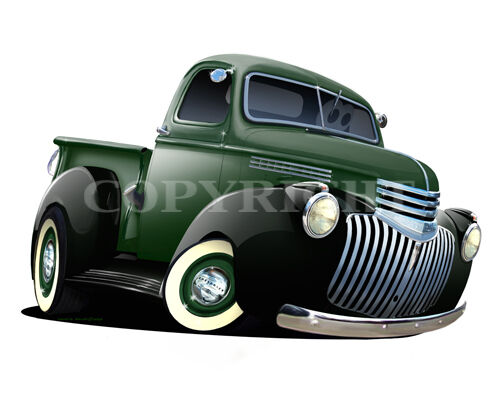 Barrett 1946 Chevy Pickup Wall Graphic Removable Vinyl Decal Home Decor Artwork