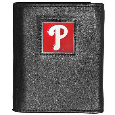 Sport Neue Mode Philadelphia Phillies Mlb Deluxe Dreifach Gefaltene Fein Vollleder Portemonnaie Angemessener Preis