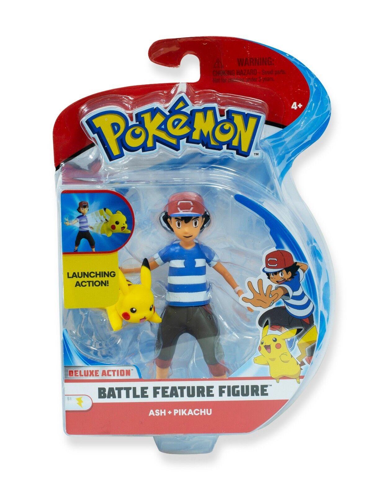 Pokemon  BaGröße Caractéristique Paquet de Figurines  Ash & Pikachu 11.4cm