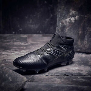b026908b83 Details about Puma ONE 18.1 FG Mens Leather Football Boots Triple Black RRP  £180 ~ Sizes 6-12