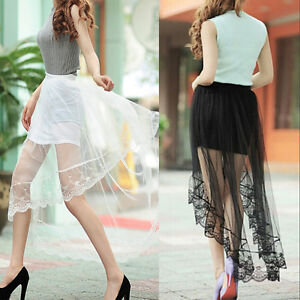 2016-New-Women-Sexy-Sheer-Tulle-Lace-Floral-Long-Maxi-Skirt-Pleated-Dress-DAZ