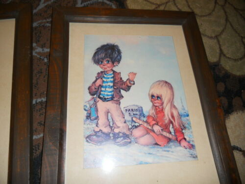 "michel thomas signed 1 print in glass /& frame ..18x14/"" including frame"