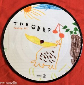 THE-CURE-Taking-Off-Rare-UK-7-034-Picture-Disc-Vinyl-Record-Stickered-Sleeve