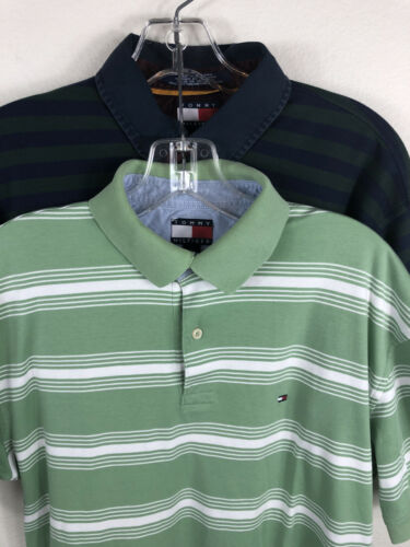Tommy Hilfiger Lot Of 2 Polo Shirts M Striped Men'