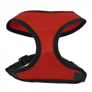 RED XS PET CONTROL HARNESS DOG CAT SOFT USA MESH WALK SAFETY STRAP COLLAR VEST