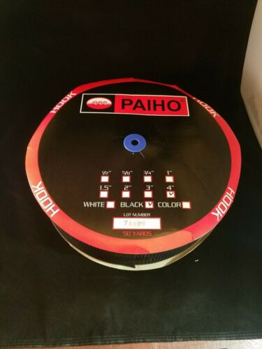 PAIHO Hook Only Sew on Fastner 4/'/' X 50 Yards Black