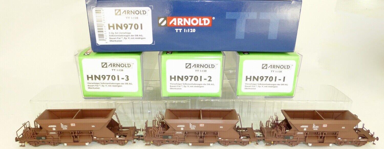 3 Pz Set Fac Vagoni Aperti 4 Assi Dborsa Epv Arnold Hn9701 Tt 1 120 Nuovo Μ