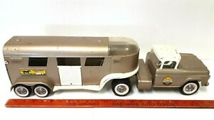 1960-039-s-NYLINT-Ford-Horse-Trailer-Good-Original-Condition