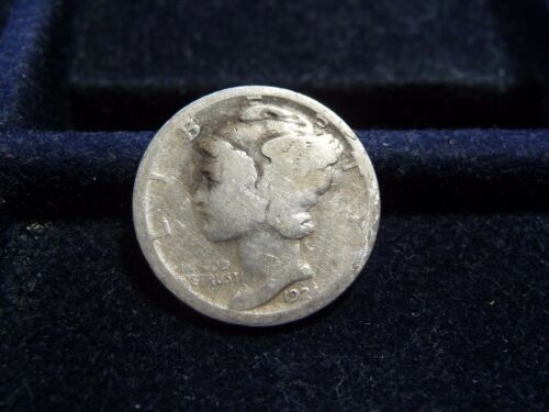1924-S Mercury Silver Dime VF Uncertified