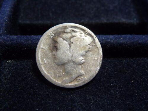 1924-S Mercury Silver Dime VF Uncertified