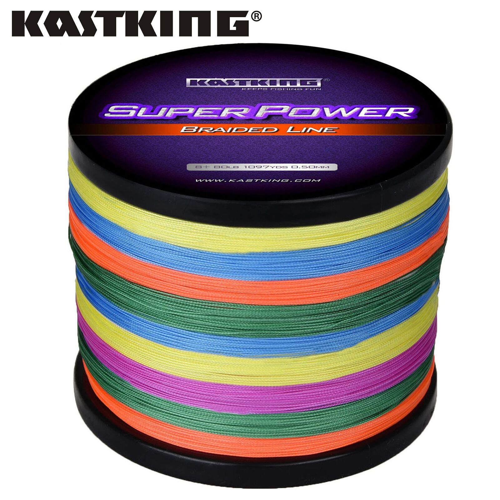 KastKing SuperPower  Braided Fishing Line (1094 Yard-65 LB) - MULTI-COLOR  fast shipping worldwide