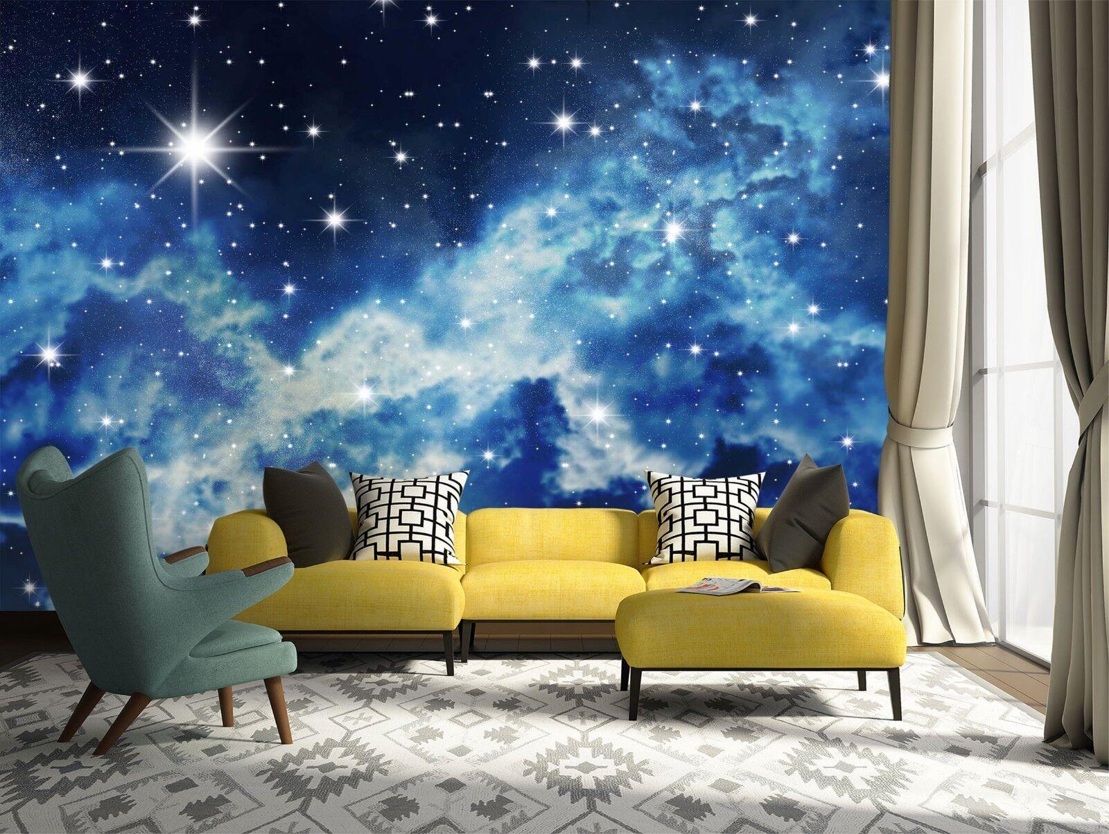3D Starry Sk Night 78 Wallpaper Mural Wall Print Wall Wallpaper Murals US Lemon