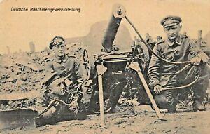 DEUTSCHE-MASCHINENGEWEHRABTEILUNG-1916-FELDPOST-WW1-MILITARY-PHOTO-POSTCARD