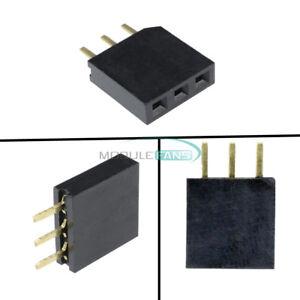 50PCS-2-54mm-Header-Single-Row-1x3-Pins-Female-Straight-Connector