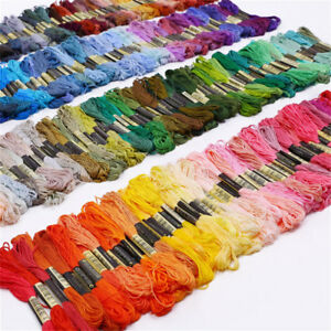 50-Lot-Multi-Colors-Cotton-Cross-Floss-Stitch-Thread-Embroidery-Sewing-Skeins-UK