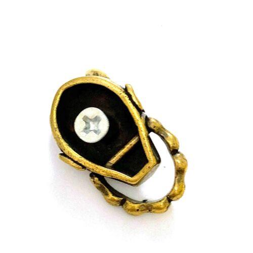 Japanese Buddhism Prajna Ghost Biker Rock Leather Wallet Brass Chain Connector