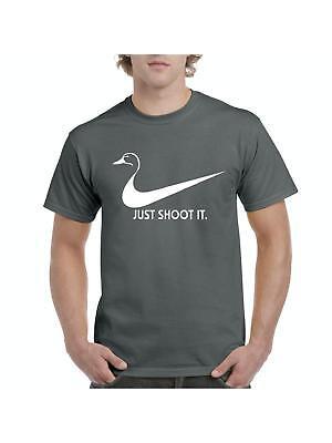 Duck Hunting Just Shoot It Nike Swoosh Funny Ladies Womens T-Shirt Tee