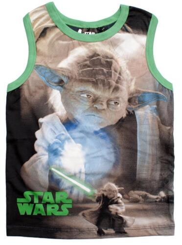 Boys Vest Racer Back Top Star Wars Darth Yoda Storm Trooper Kids 4 to 10 Years