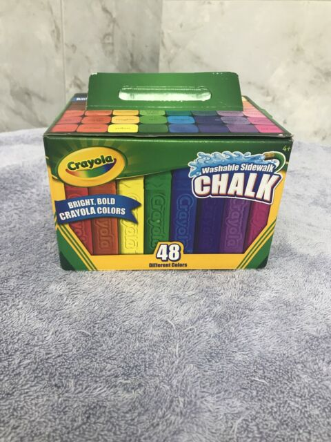 crayola cyo512048 washable sidewalk chalk assorted 48