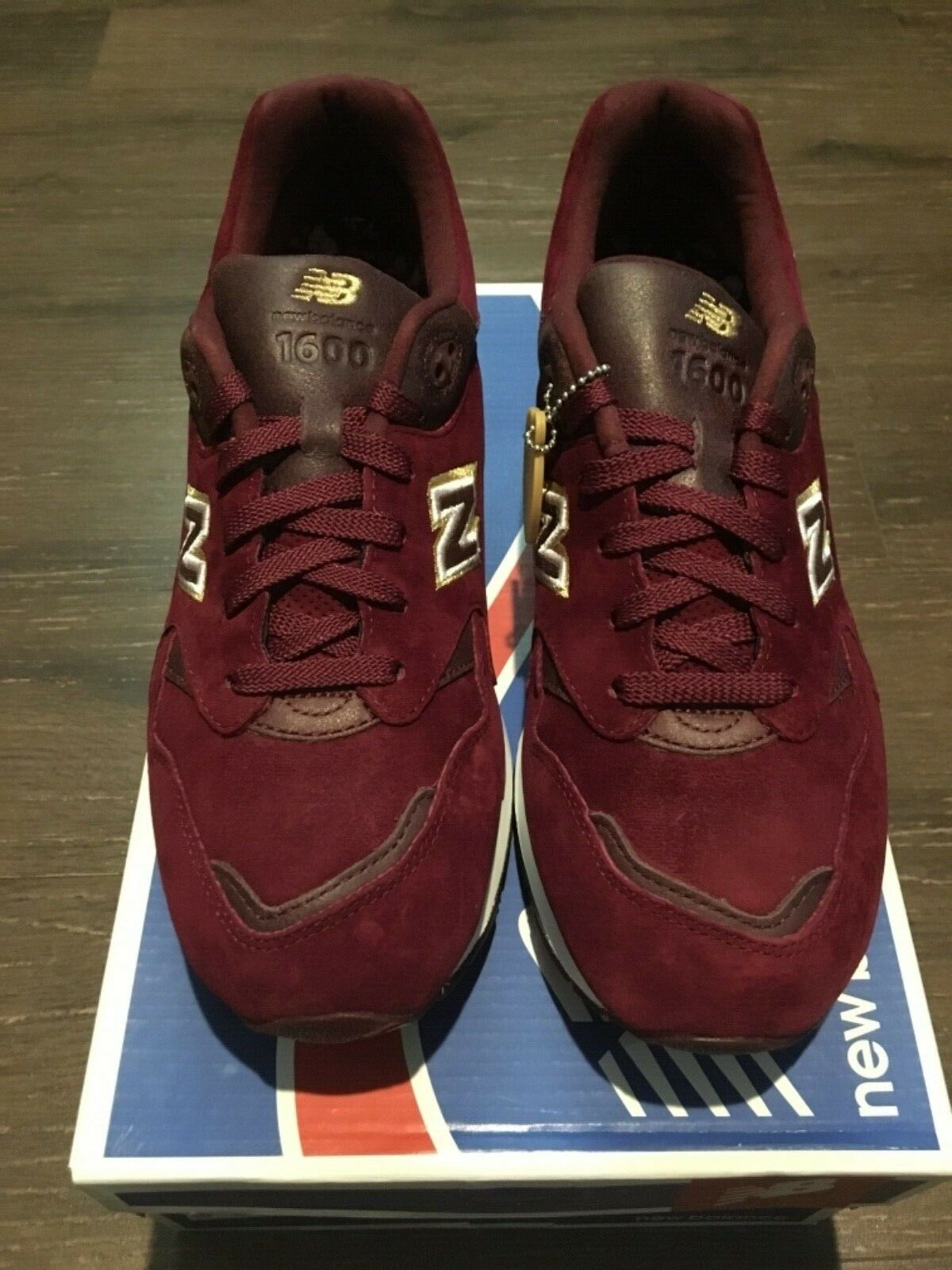 New Balance Ubiq 1600 English Crown Size US 8.5 Maroon new Fieg Kith concepts 1
