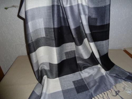 70x190 Karo Muster Stola Multi Black Schals und Tücher JACQUARD SCHAL