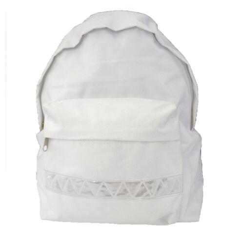 Junior Euro Childrens Kids Backpack Rucksack Plain School Bag  Sports 5 Colours