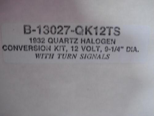 Quartz Halogen Headlamp Conversion Kit • 1932 FORD w//Turn Signal