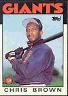 1986 Topps Chris Brown #383 Baseball Card