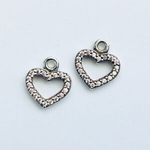 82713631a0c7c Details about GENUINE PANDORA (S) Pink Heart Earrings 290657PCZ FREE  DELIVERY