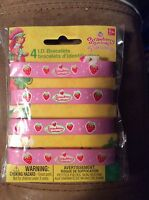 Strawberry Shortcake Party Supplies Favors Id Bracelets Wristbands 4ct.