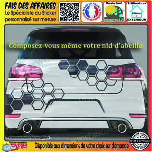 Stickers-Autocollant-nid-d-039-abeille-deco-auto-moto-tuning-rallye-sponsor-cuisine