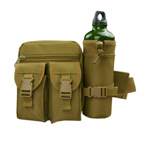 Tactical Military Hiking Travel Water Bottle Belt Fanny Waist Bag Bum Pouch UK