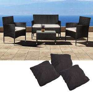 Polyrattan lounge gartenm bel tisch gartenset sitzgruppe for Polyrattan lounge gartenset