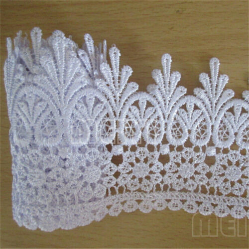 1//3//5m Vintage Embroidered Lace Edge Trim Ribbon Crochet Applique Sewing Craft