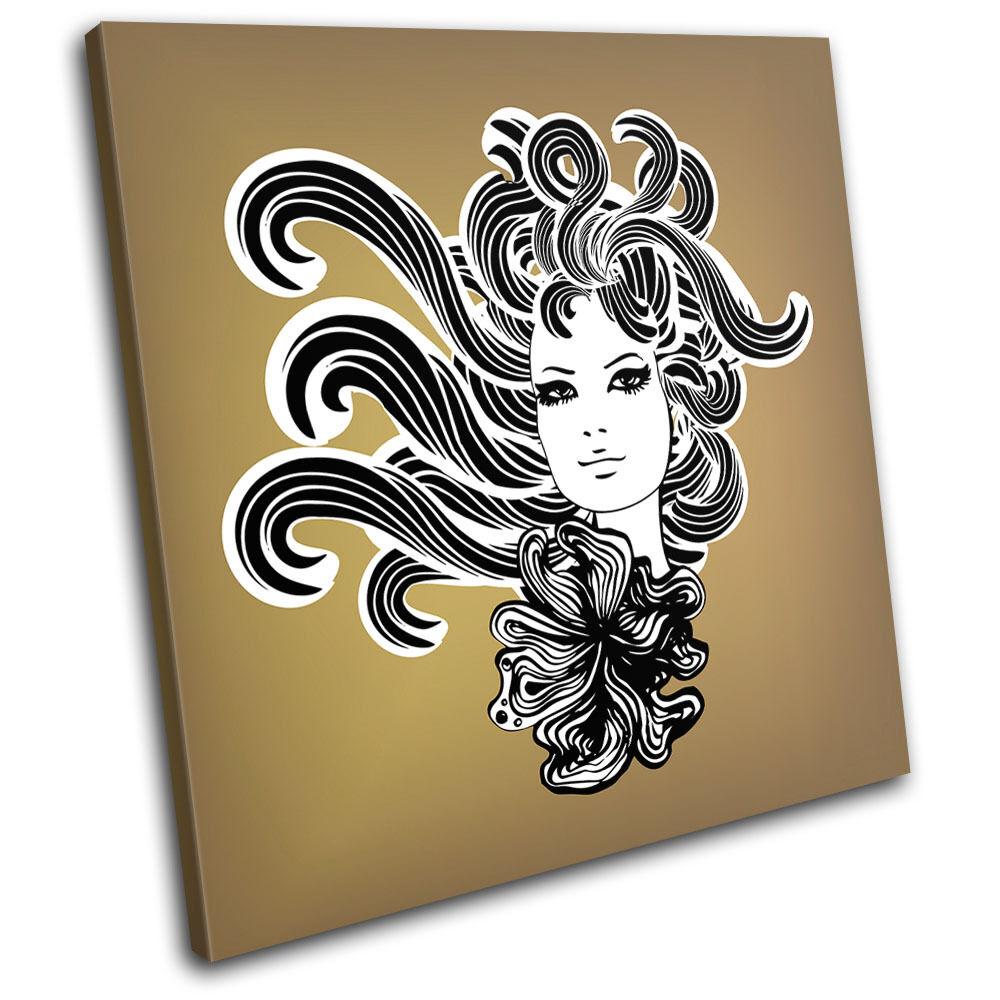 Girl Hair Fashion SINGLE TOILE murale ART Photo Print