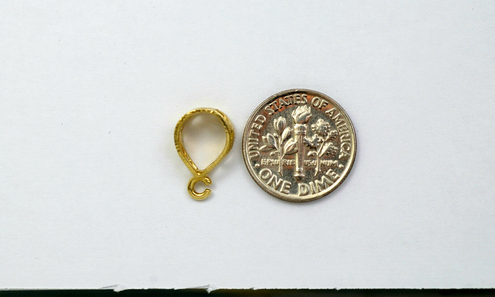 10K solid gold design medium size bail