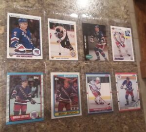 8-Brian-Leetch-1989-90-Topps-1990-91-Score-Upper-Rookie-Card-lot-RC-Rangers