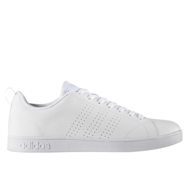 Adidas hommes Advantage Clean Leather Trainers blanc B74685 3 Stripes Gym Sport