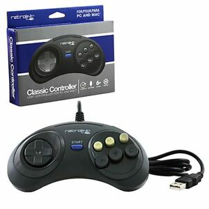 New-RetroLink-Genesis-Style-6Button-USB-Wired-Controller-for-PC-Mac-by-Retro-bit