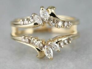 2-44-Ct-Round-Cut-Diamond-14k-Yellow-Gold-Over-Womens-Enhancer-Wrap-Wedding-Ring