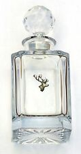Stag Head Design Cut Crystal Glass Decanter Hunting Gift