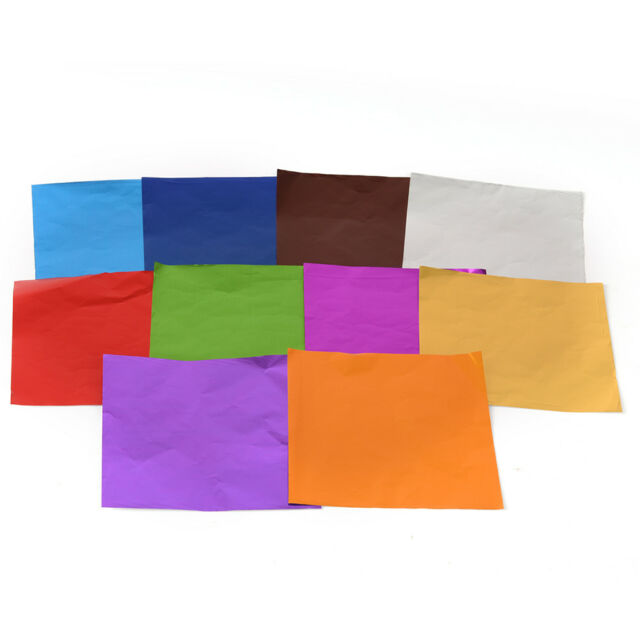10 x 10 cm DIY Foil Candy Chocolate Wrapper Aluminum Candy DIY Package Paper LY
